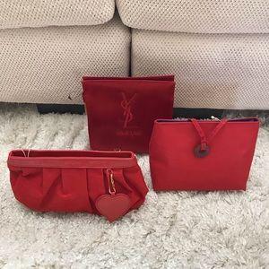 YSL cosmetic clutch bags